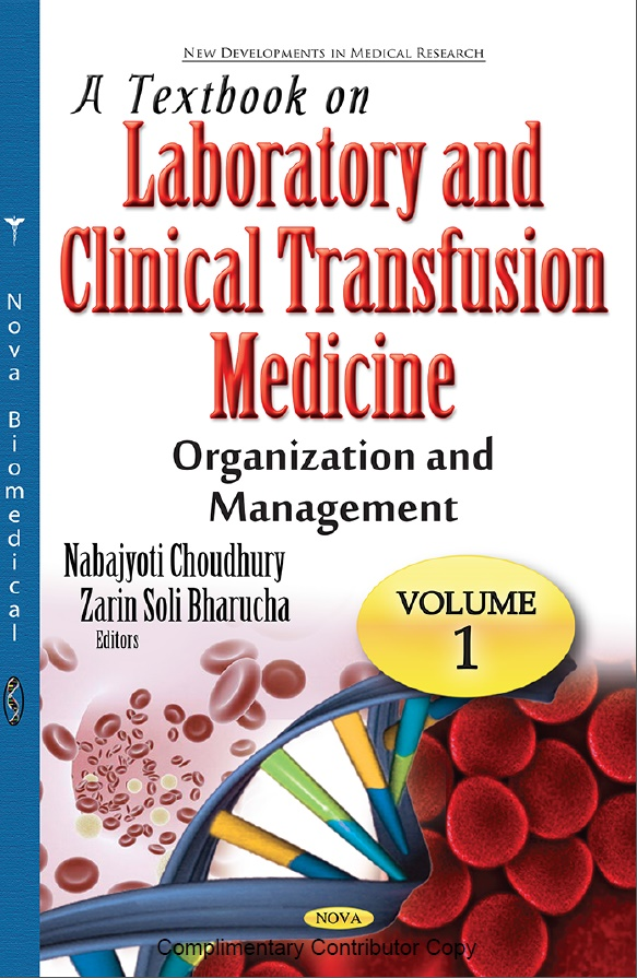 A textbook on Laboratory and Clinical Transfusion Medicine - Organization and Management Vol-1 - Pakistan Society of Haematology (PSH)