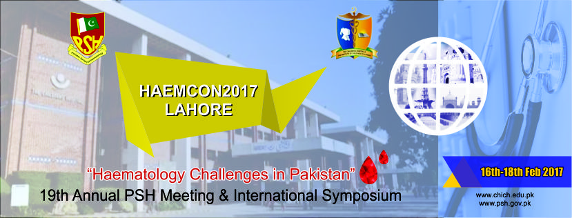 HAEMCON2017 Lahore - Pakistan Society of Haematology (PSH)